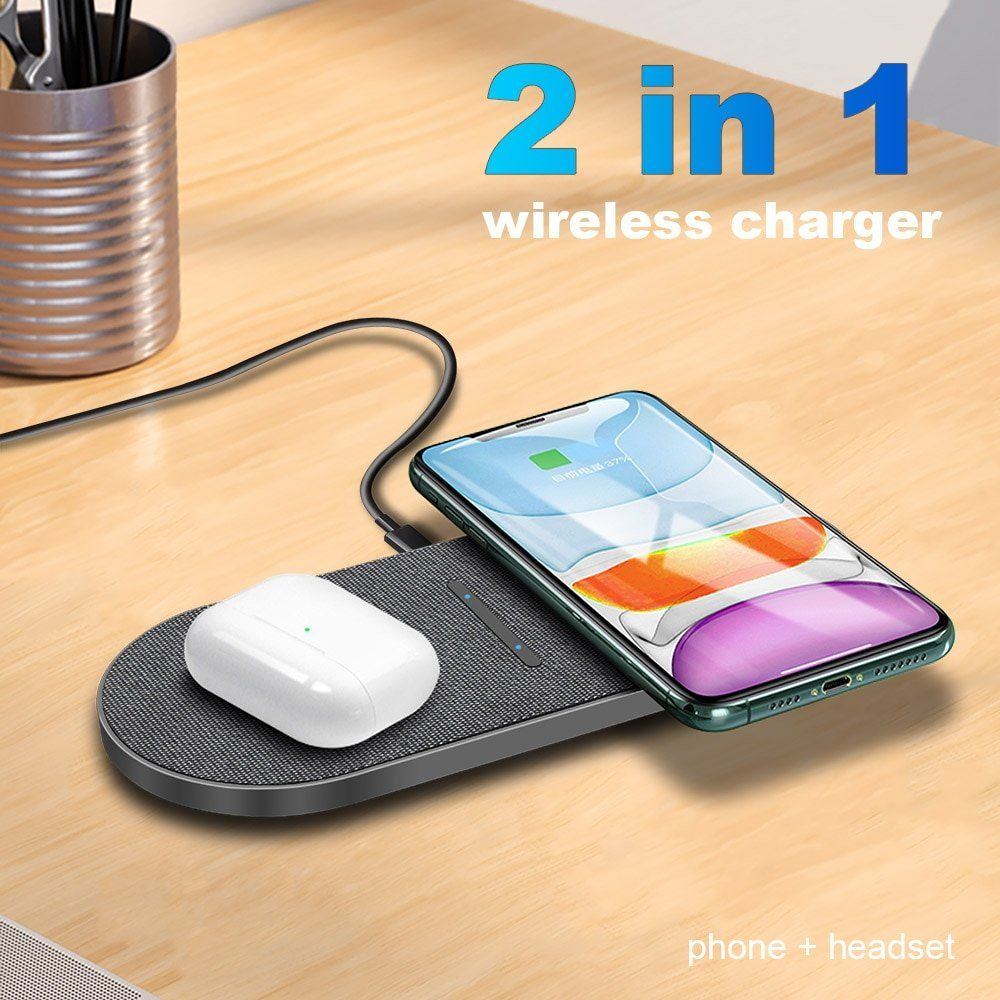 arcadia.zone 20W Dual Qi Wireless Charger