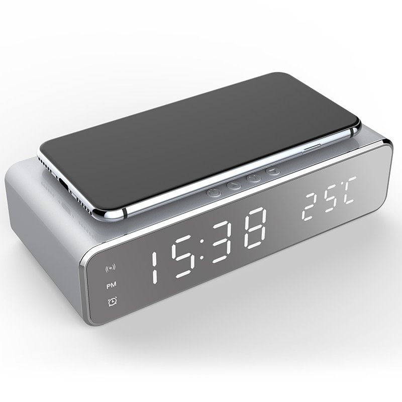 arcadia.zone LED Alarm Clock Qi Wireless Charger