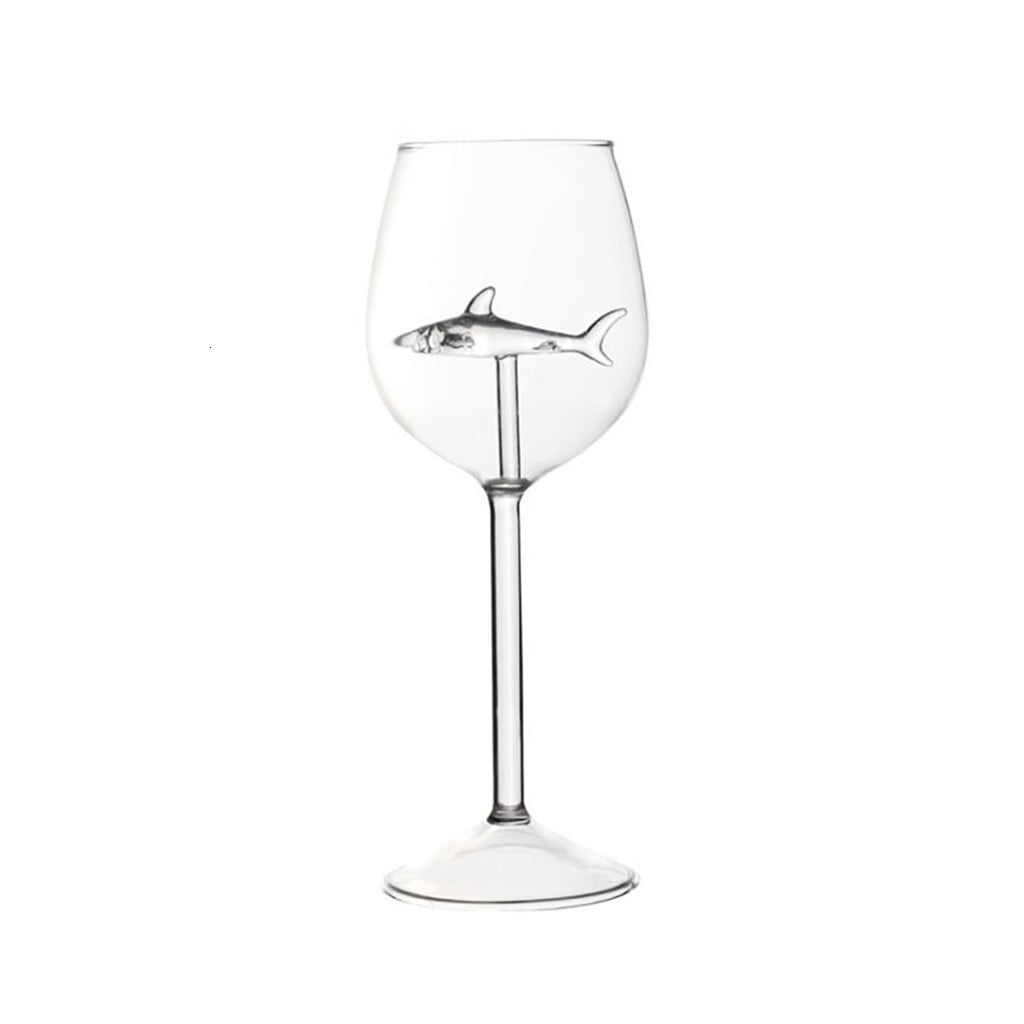 arcadia.zone Crystal Shark Wine Glass